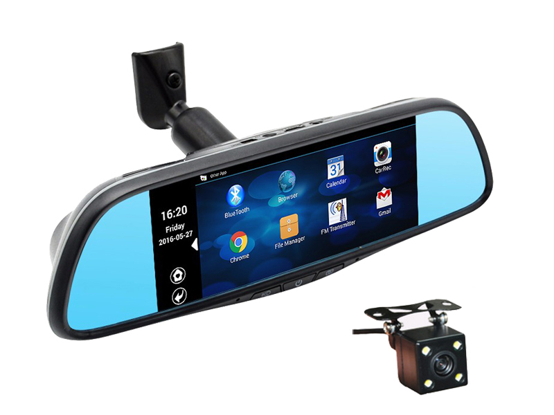 V11 Android Rearview Mirror GPS Navigation DVR
